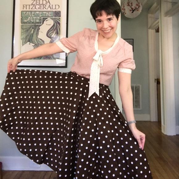 los angeles buy online sports shoes Lindy Bop polka dot skirt